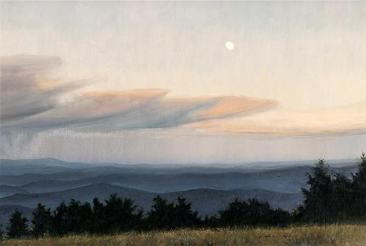 Moonrise Over The Blue Ridge