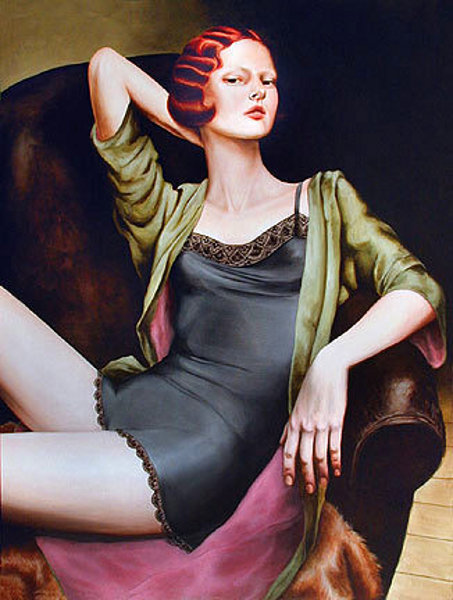 Seated Redhead