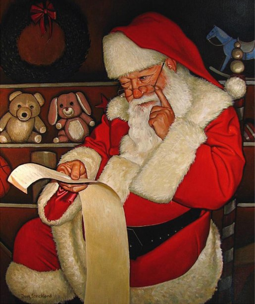 Thoughtful Santa