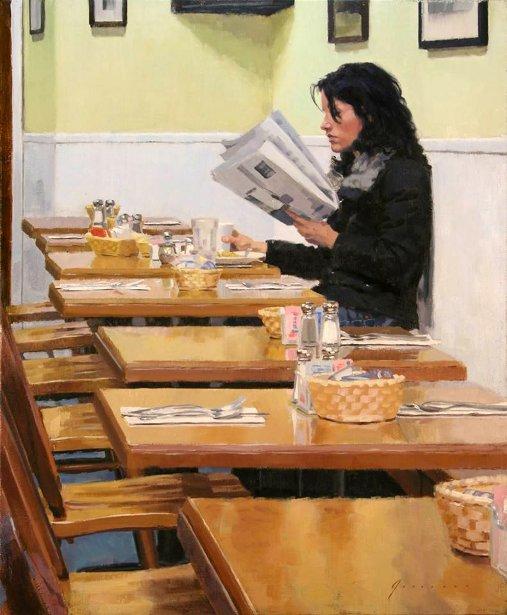 Woman At Diner