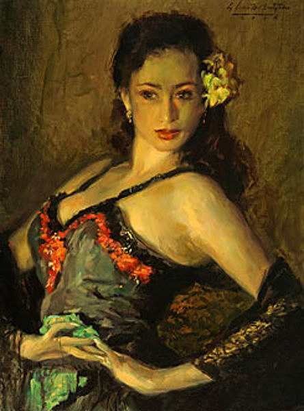 Dancer With Black Lace