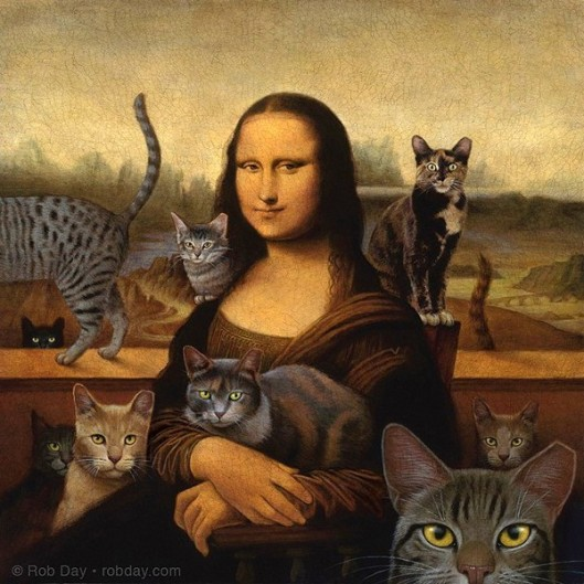 Mona With Cats