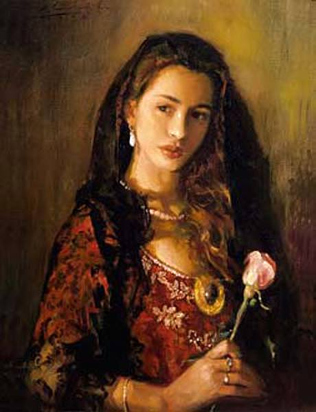 Portrait With Rose