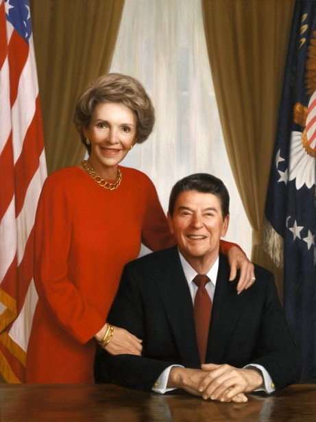 President Ronald Reagan And Mrs. Nancy Reagan