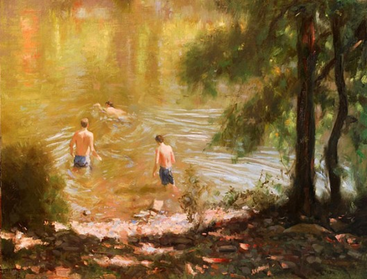 Swimmers On The Rivers