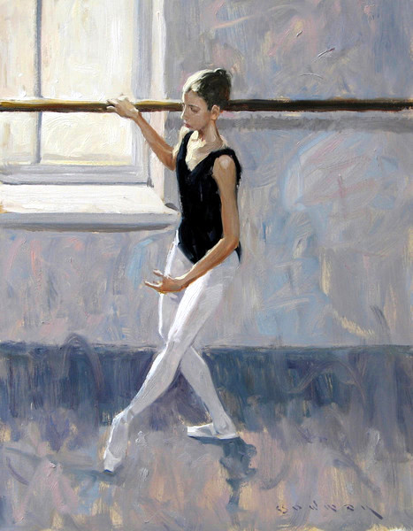 Young Dancer Rehearsing