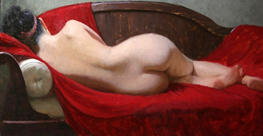 Reclining On Red