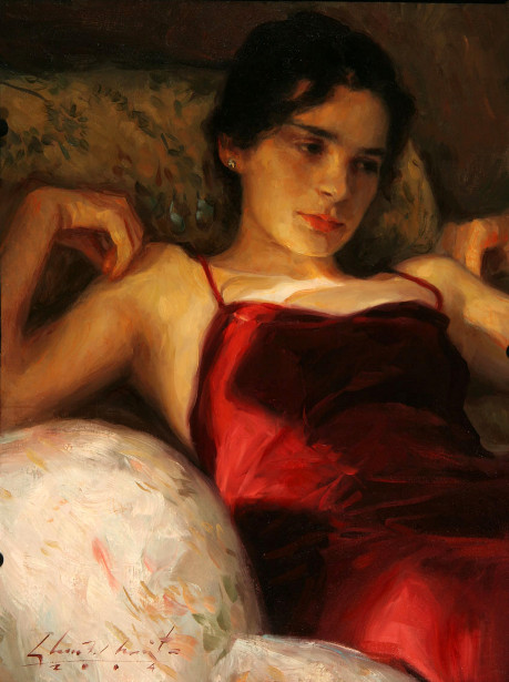 Reclining Figure - Red Dress