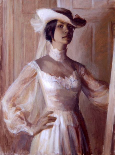 Self Portrait In Mother's Wedding Dress