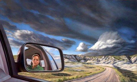 Side View Mirror Self, Badlands