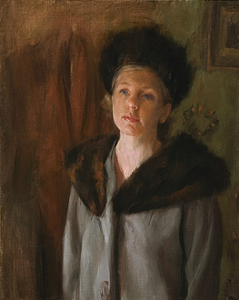 Woman In Fur Hat And Collar