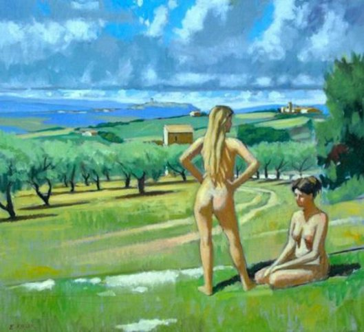 Alex And Kelsey In Umbrian Landscape