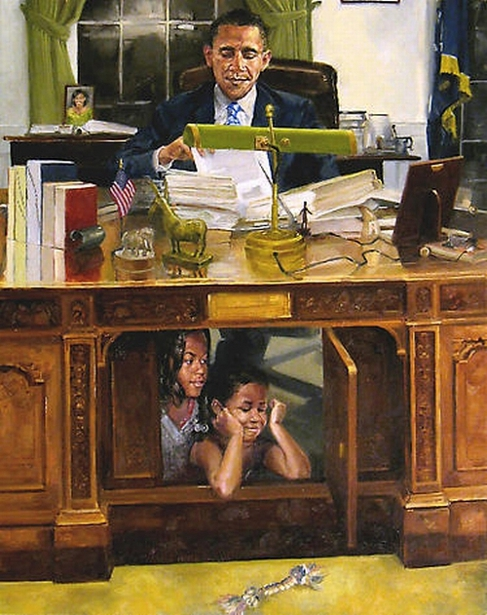 Obama And His Daughters