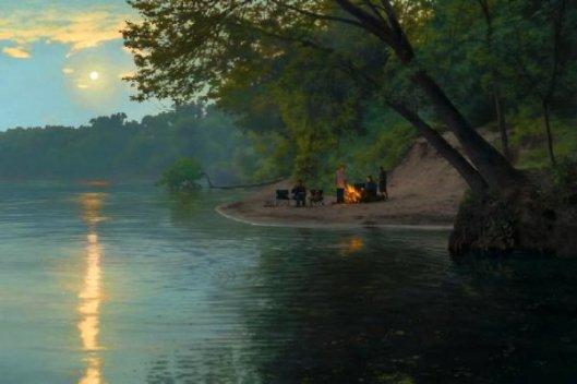 Bonfire On The River