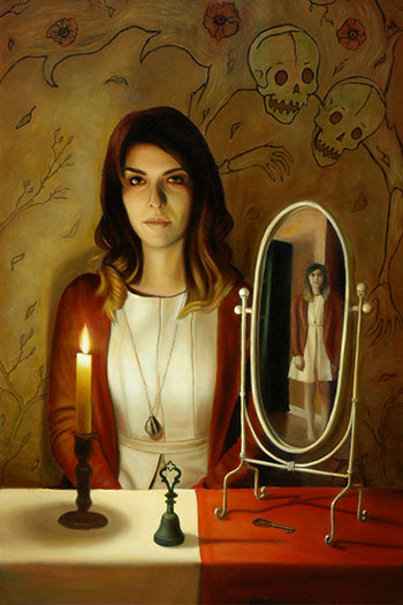 Candle, Bell And Mirror
