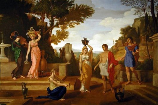 Orestes And Elektra At The Tomb Of Agamemnon