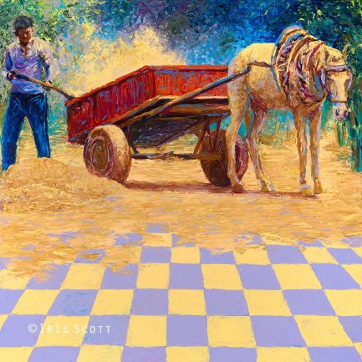 Dusty Horse Cart