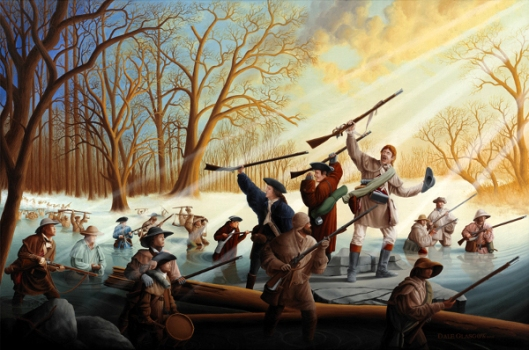 George Rogers Clark Crossing The Wabash River, 1779