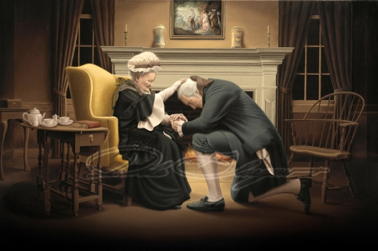 Mother's Blessing (Mary Washington Blesses Her Son George Washington Before His Inauguration As President)