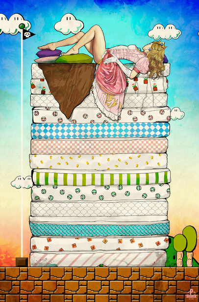 Princess Peach And The Pea