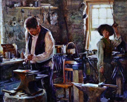 Blacksmith And Apprentice