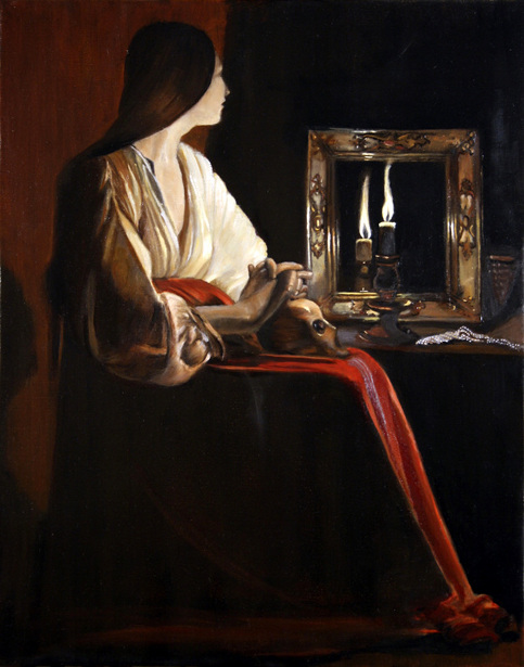 The Penitent Magdalene (after Georges de La Tour)