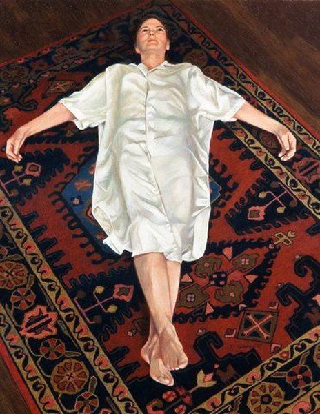 Woman On An Oriental Rug