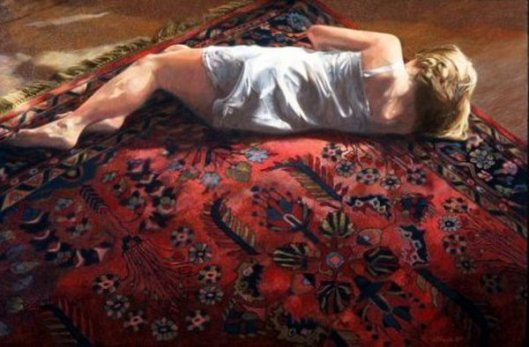 Young Woman On An Oriental Rug 2