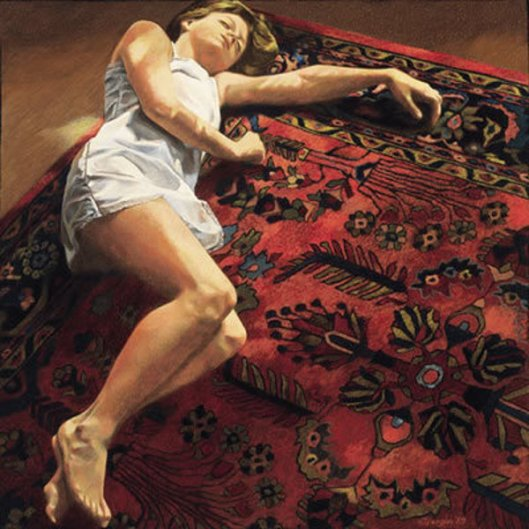 Young Woman On An Oriental Rug