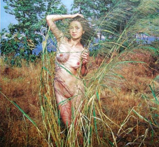 Nude In The Grass
