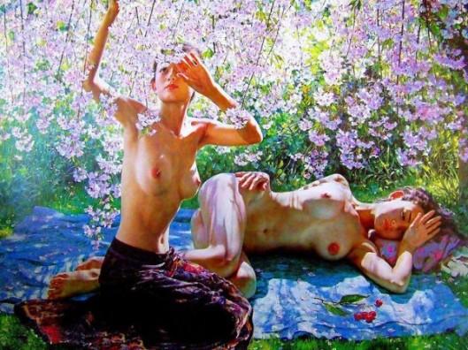 Sleeping Under Cherry Blossoms