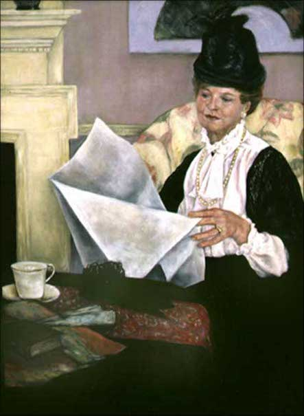 Nancy Harn Wagner As Mary Cassatt