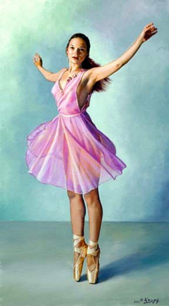 Irina Dancing In Fuschia Skirt