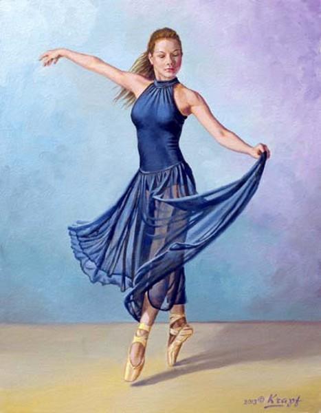 Irina Dancing In Sheer Dark Blue Skirt