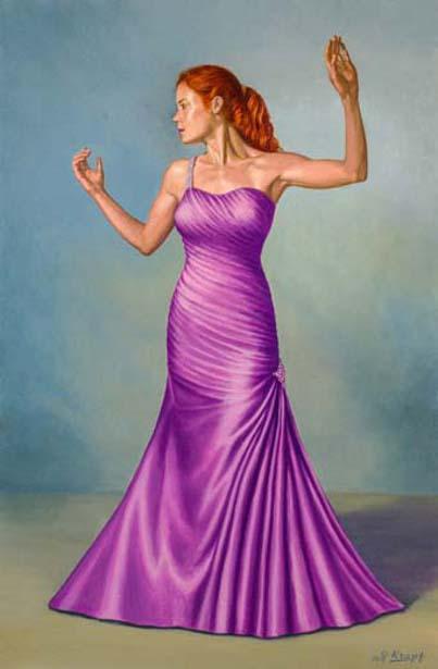 Becca In Purple Satin