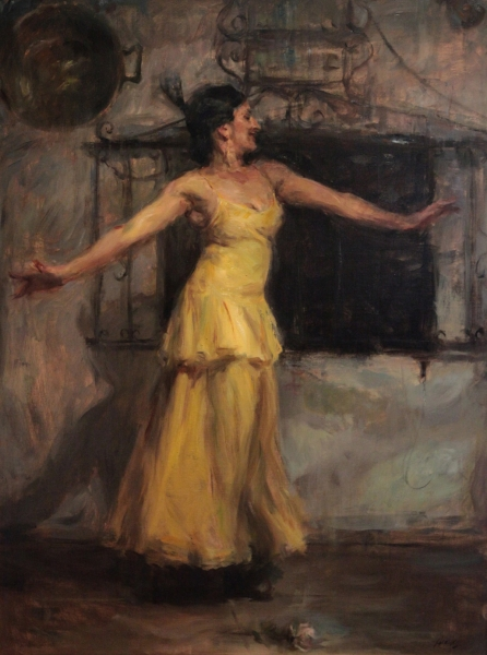 Flamenco Dancer In Yellow
