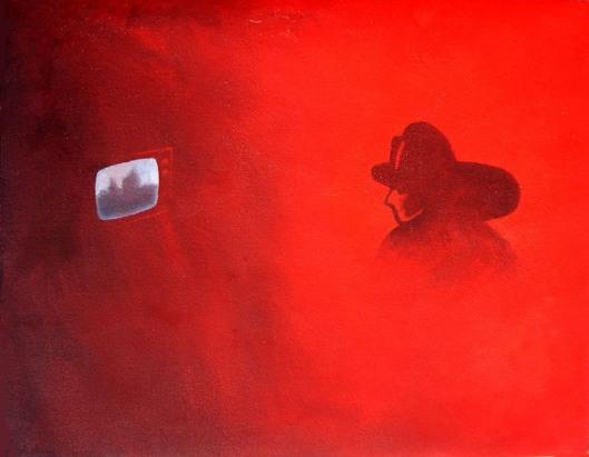Fireman Watching TV