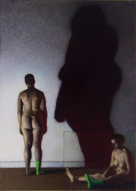 Two Figures And A Cast Shadow