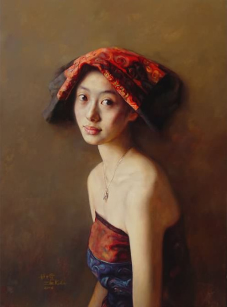 The Portrait Of Julie - Ju Li And The Scarlet Scarf