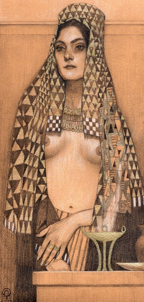 Priestess With Tripod