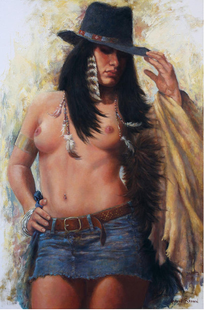Buffalo Robe Woman