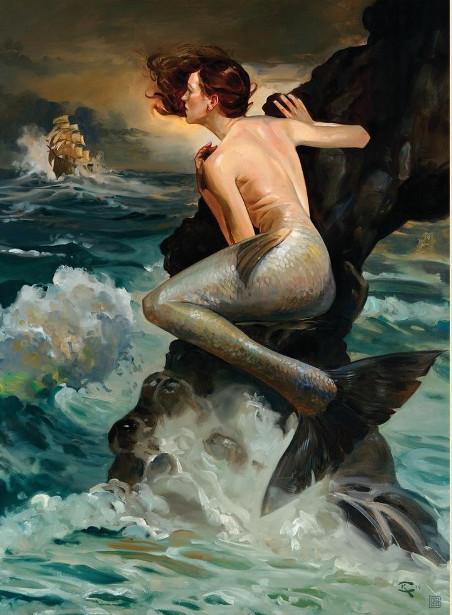 Mermaid Storm Watcher